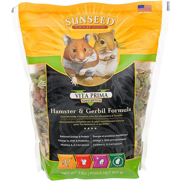 Vitakraft Vita Prima Sunscription Hamster & Gerbil Formula 2 Lbs.