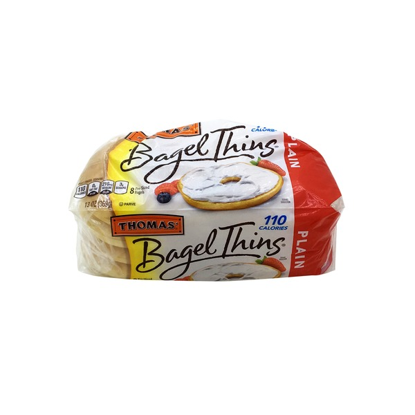Thomas Bagel Thins Plain Bagels