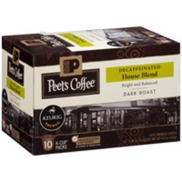 Peet's Coffee & Tea Decaffeinated House Blend Dark Roast Coffee, K-Cups