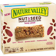 Nature Valley Nut & Seed Honey Pecan Crunchy Granola Bars
