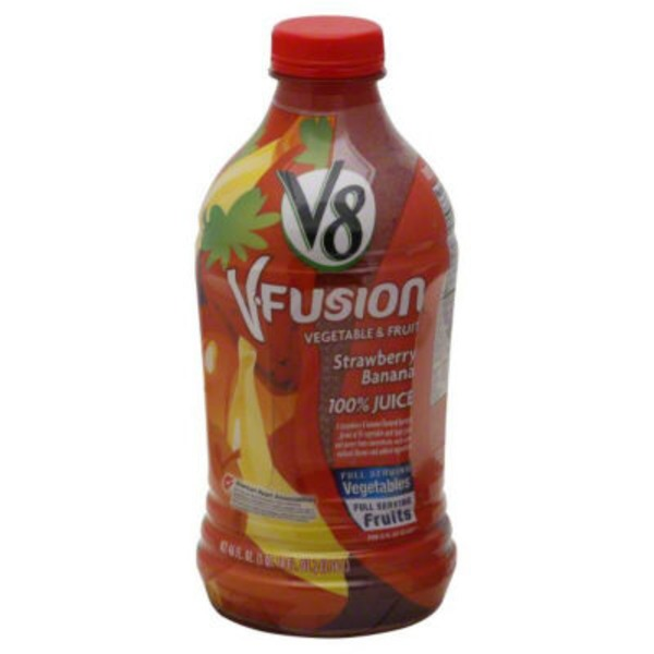 V8 V Fusion Strawberry Banana 100% Vegetable & Fruit Juice