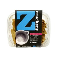Z Crackers Sea Salt & Olive Oil Rustic Crunch Crackers