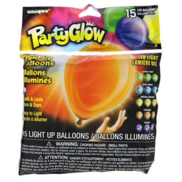 Unique Party Glow Light Up Balloons Assorted