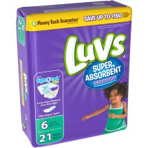 Luvs Super Absorbent Leakguards Diapers, Size 6, 21 Diapers
