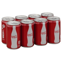 Coca-Cola Classic Soda Mini Cans - 8