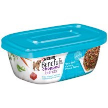Purina Beneful Chopped Blends With Beef, Carrots, Peas & Barley Dog Food 10 oz. Plastic Tub