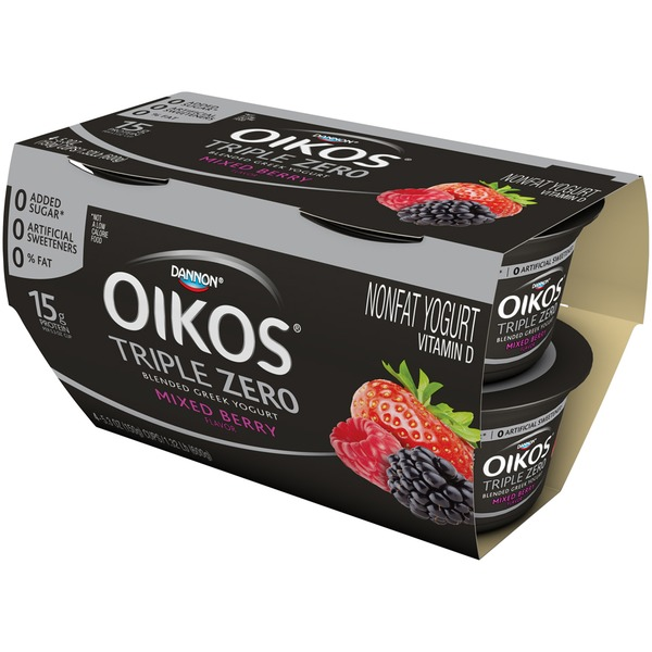 Oikos Triple Zero Triple Zero Greek Mixed Berry Nonfat Yogurt