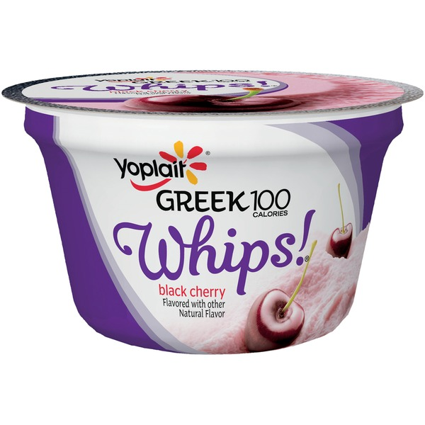 Yoplait Greek 100 Calories Whips! Black Cherry Fat Free Yogurt Mousse
