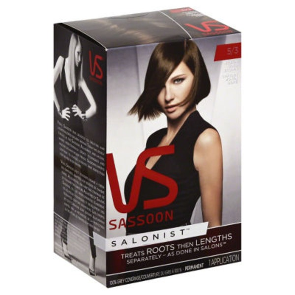 Vidal Sassoon Salonist Permanent 5/3 Medium Gold Brown Hair Colour