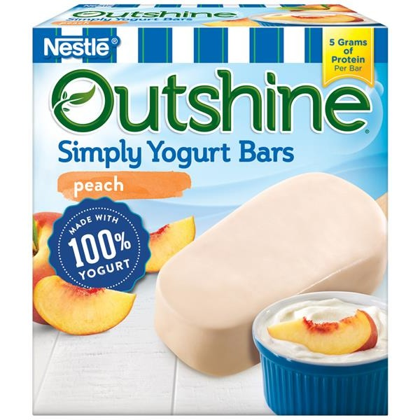 Nestle Outshine Peach Simply Yogurt Bars