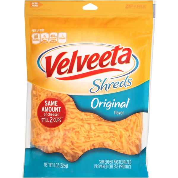 Kraft Velveeta Shreds Shredded Original Cheese