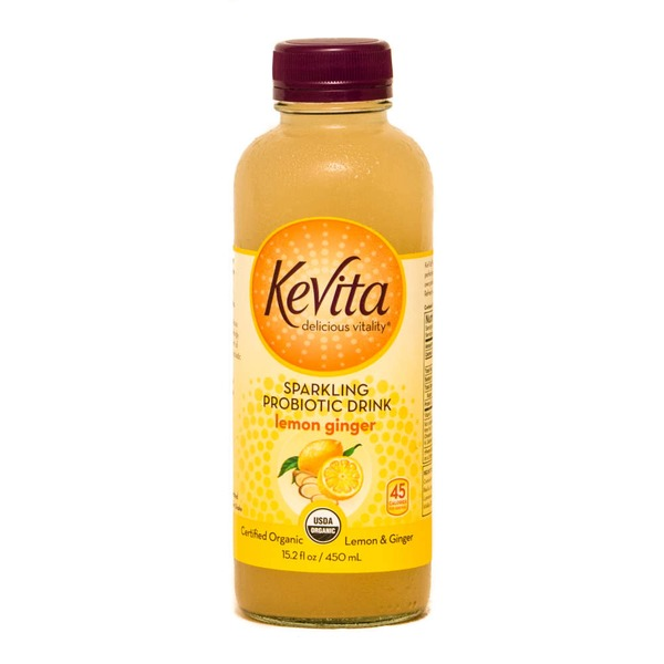 KeVita Sparkling Probiotic Drink Lemon Ginger