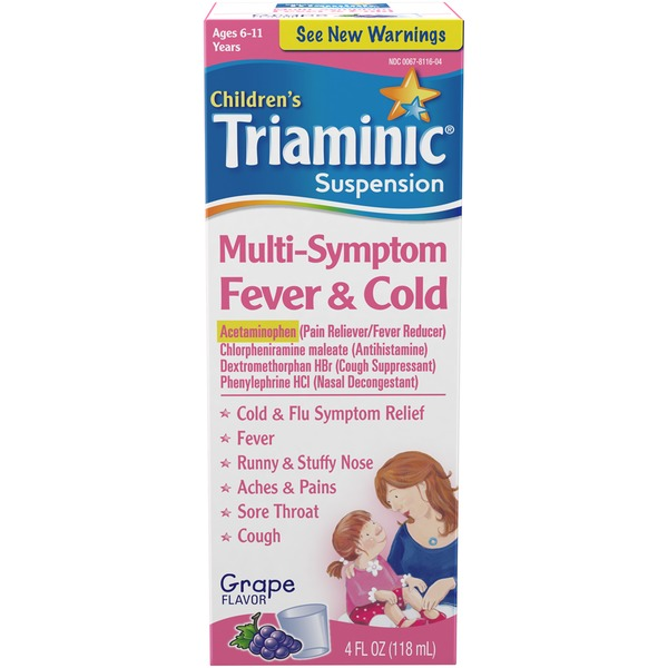 Triaminic Children's Grape Flavor Multi-Symptom Fever & Cold Syrup