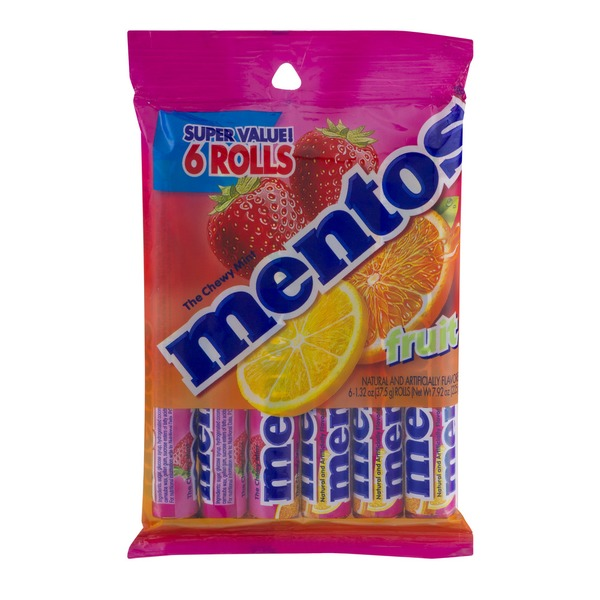 Mentos Chewy Mint Fruit - 6 CT