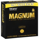 Trojan Magnum Large Size Lubricated Latex Condoms - 36 ct