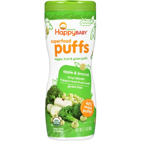 Happy Baby/Family Apple & Broccoli Superfood Puffs