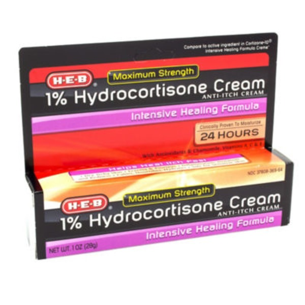 H-E-B 1% Maximum Strength Intensive Healing Formula Hydrocortisone Cream