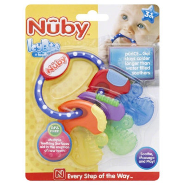 Nuby Icy Bite Gel Teether Key Ring