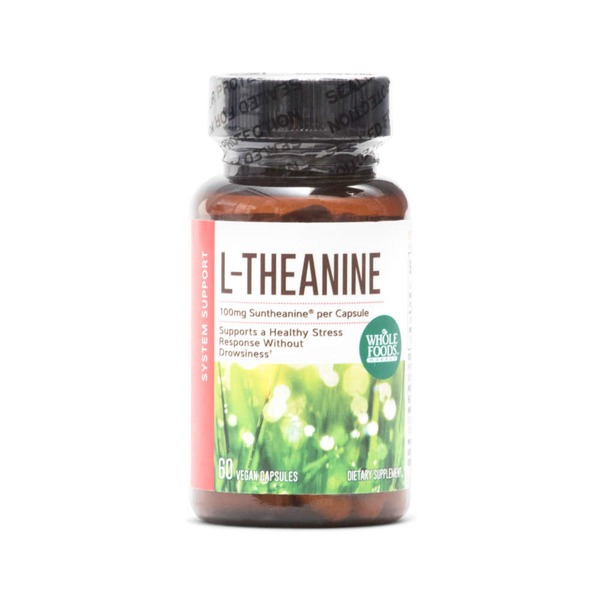 Whole Foods Market L-Theanine 100mg Vegetarian Capsules