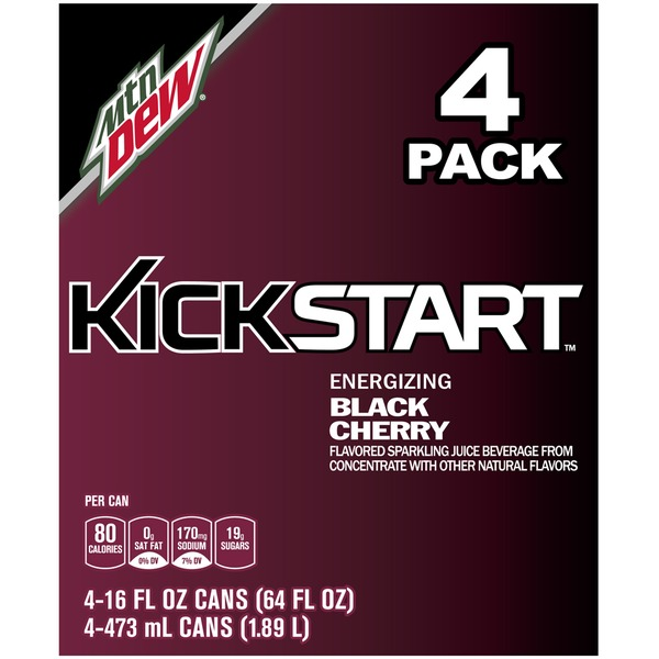 Mountain Dew Kickstart Black Cherry Juice Drink