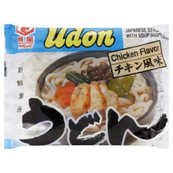 Myojo Chicken Flavor Japanese Style Udon Noodles With Soup Base