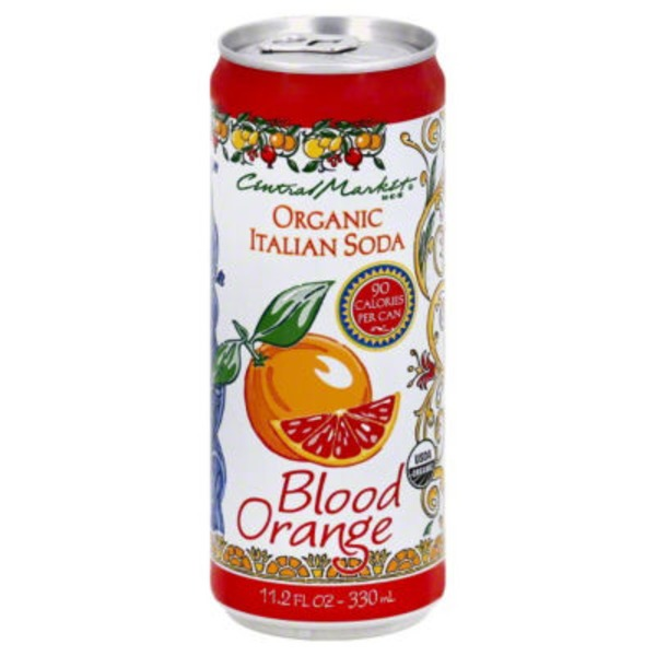 Central Market 90 Calorie Organic Italian Soda Blood Orange