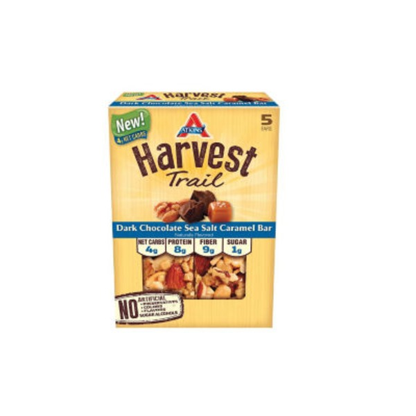 Atkins Harvest Trail Dark Chocolate Sea Salt Caramel Snack Bars
