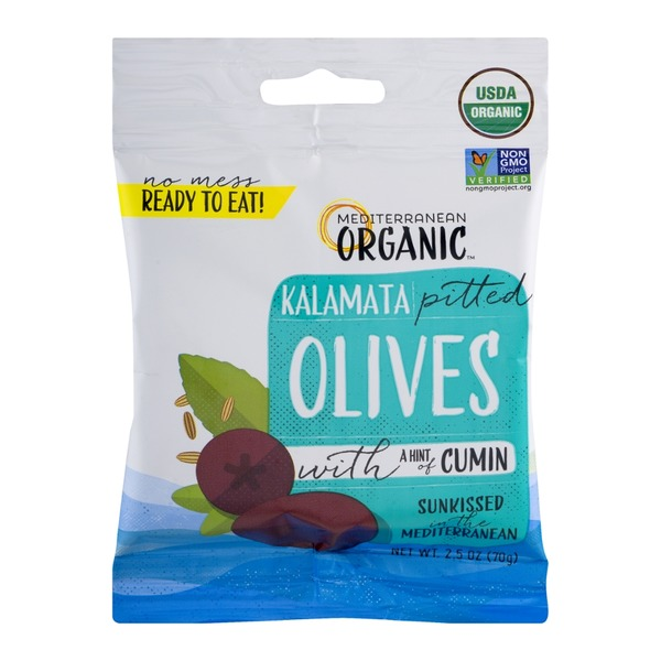 Mediterranean Organics Kalamata Pitted Olives with a Hint of Cumin