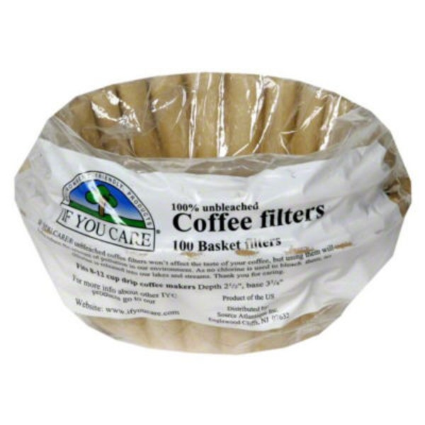 If You Care Coffee Filters, 8 Inch Basket
