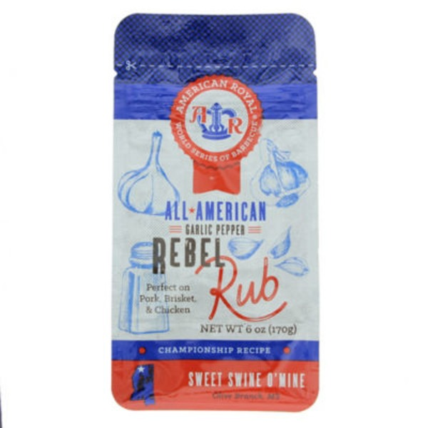 American Royal Garlic Pepper Rebel Rub