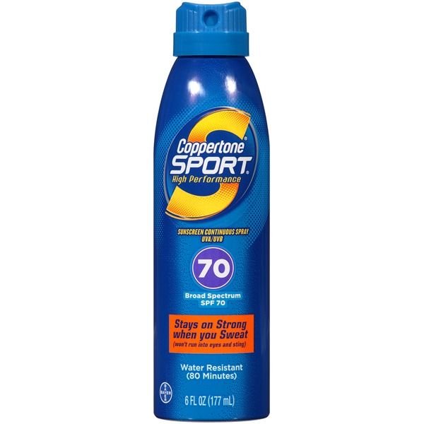 Coppertone Sport Broad Spectrum SPF 70 Sunscreen Spray