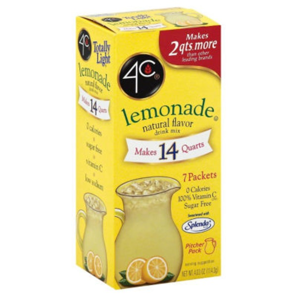 4C PSD-TL Packet Lemonade PSD-Sugar Free