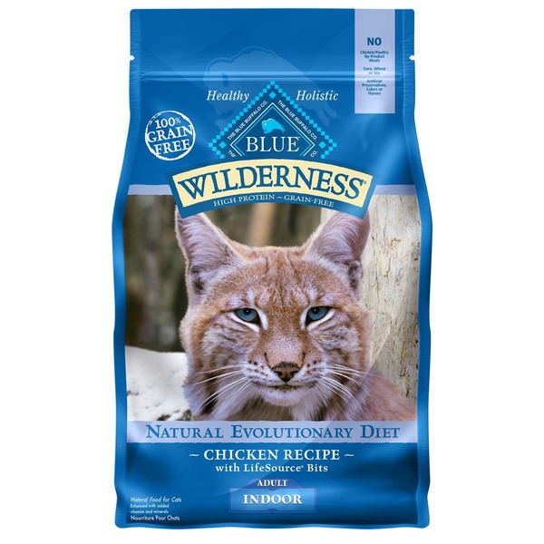 Blue Buffalo Wilderness Indoor Chicken Adult Dry Cat Food 2 Lbs.
