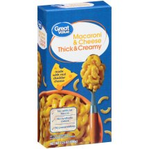 Great Value Macaroni & Cheese, Thick & Creamy, 7.25 oz