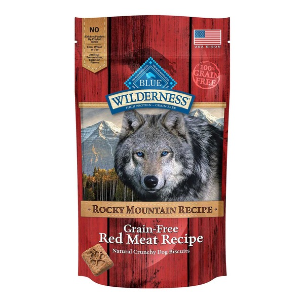 Blue Buffalo Wilderness Grain Free Rocky Mountain Recipe Red Meat Recipe Dog Treats