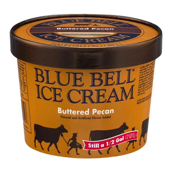 Blue Bell Ice Cream Buttered Pecan Flavor