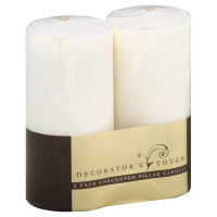 Decorators Touch Unscented Pillers Candles