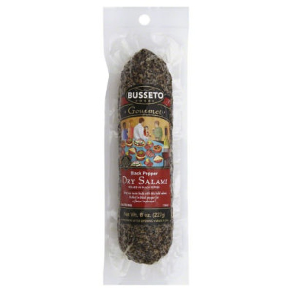 Busseto Foods Dry Salami Black Pepper