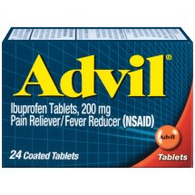 Advil Pain Reliever Fever Reducer Coated Tablets, 24 Ct