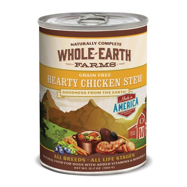 Whole Earth Farms Grain Free Hearty Chicken Stew Canned Dog Food Case Of 12