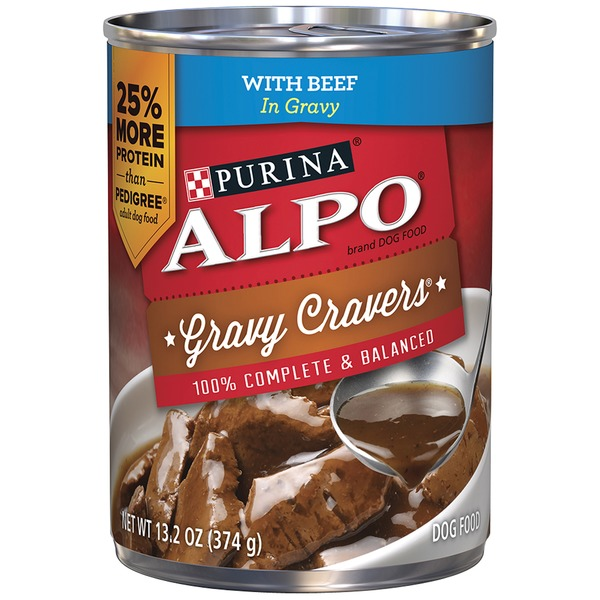Alpo Wet Gravy Cravers With Beef in Gravy Dog Food