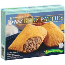 Caribbean Food Delights Jamaican Style Mild Beef Turnover Patties, 2 ct