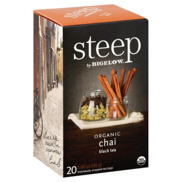 Bigelow Steep Organic Chai Black Tea