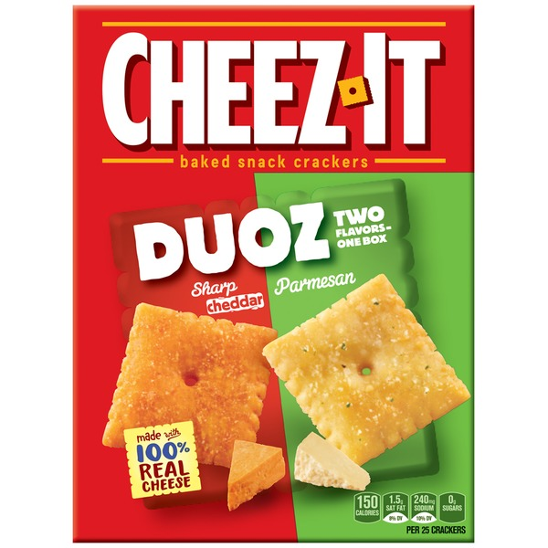Cheez-It Duoz Sharp Cheddar/Parmesan Baked Snack Crackers