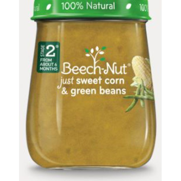 Beech-Nut Naturals Just Sweet Corn & Green Beans Stage 2