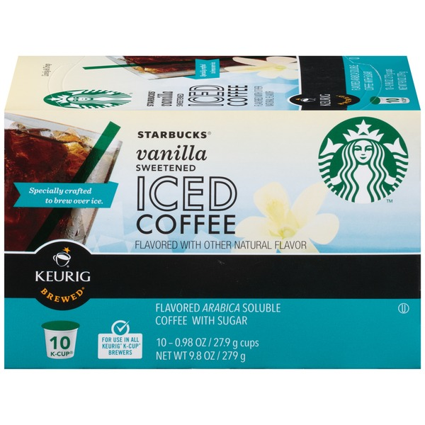 Starbucks Vanilla Sweetened 9.8 oz Iced Coffee K-Cup