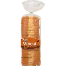 Great Value Wheat Bread with Honey, 20 oz