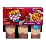 Super Snack Pack Chocolate Vanilla Pudding, 5.5 Ounce (6 count)