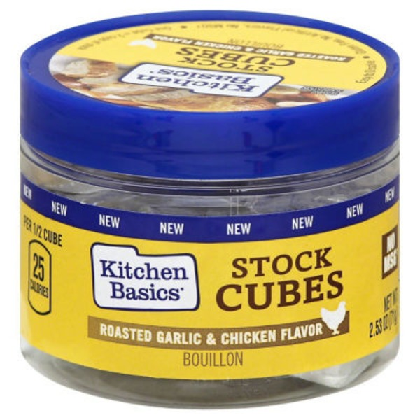 Kitchen Basics Roasted Garlic & Chicken Flavor Stock Cubes Bouillon