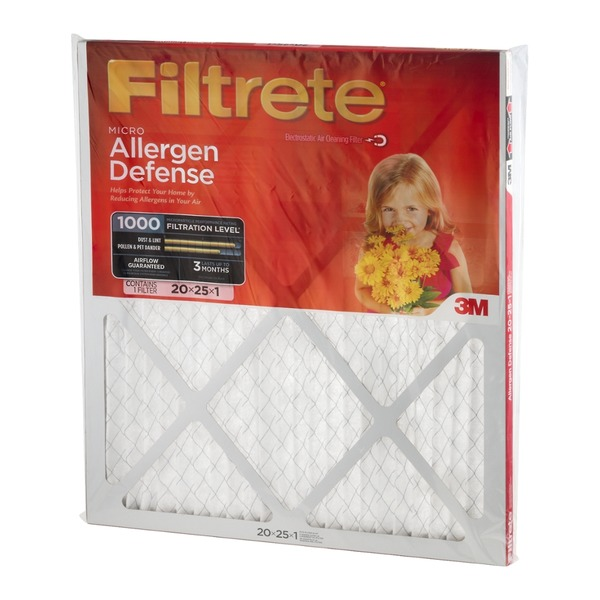 3M Filtrete Micro Allergen Defense Air Cleaning Filter 20x25x1